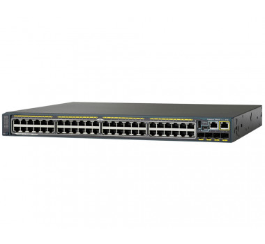 SWITCH CISCO CATALYST 2960X (WS-C2960X-48FPS-LB) 48 10/100/1000 POE+ 4-SFP L2 GERENCIÁVEL