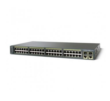 Cisco Switch PoE 370W layer 2 Catalyst 48 portas Gigabit   4 SFP   IOS Lan Base WS-C2960X-48LPS-L