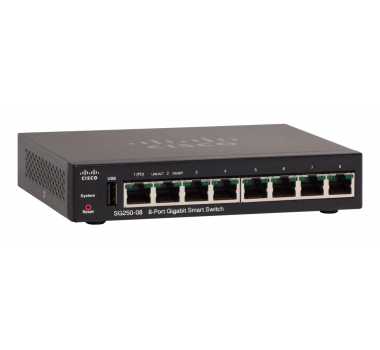 Switch Cisco SG250-08 8-Port Gigabit Smart